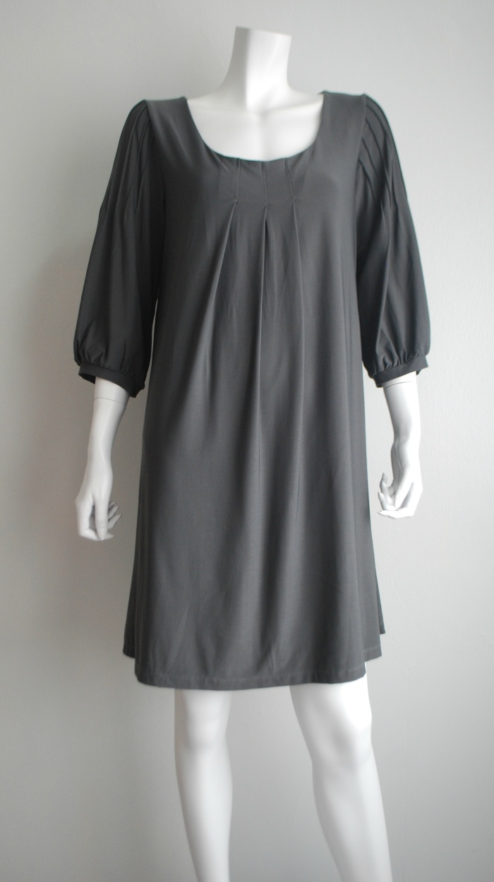 xo Nostalgia - Vintage and branded preloved | Online shopping Malaysia: ELLE Grey Dress with pleat detailing