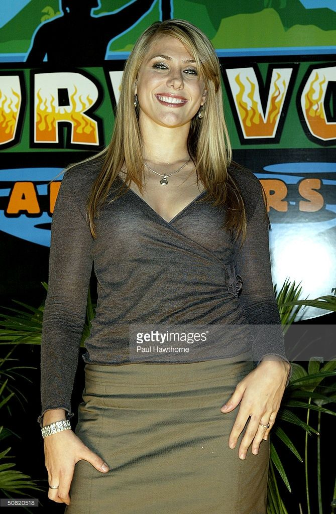 Survivor All-star cast member Jenna Lewis poses for photos after the Survivor All-stars Finale at Madison Square Garden May 9, 2004 in New York City.