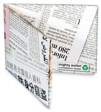 Peněženka #mightywallet Newsprint Mighty Wallet. #bontonland http://www.bontonland.cz/newsprint-mighty-wallet/