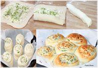 Bun's roulés aux oignons nouveaux et mozzarella : Etape 2