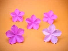 折り紙の桜・さくら・サクラ - 創作折り紙の折り方・・・