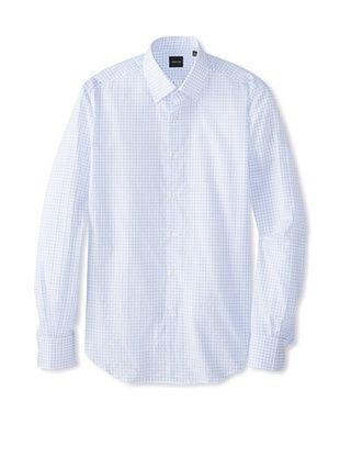 71% OFF Cerruti 1881 Men's Classic Fit Dress Shirt (White/Light Blue)