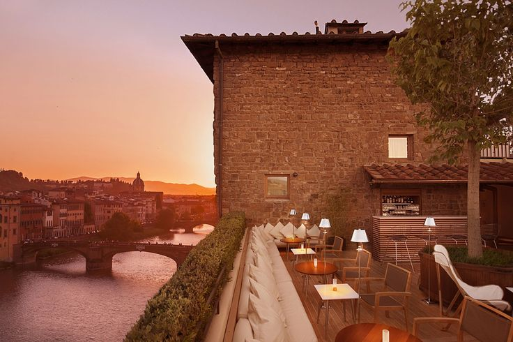 Near the Ponte Vecchio in Florence, Continentale's La Terrazza is in a prime position for an Aperol Spritz