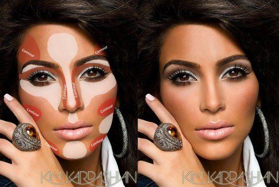 Het door sommigen als bovennatuurlijk mooi beschouwde gezicht van Kim Kardashian is helemaal niet zo natuurlijk als je denkt. De visagist van Kim smeert namelijk laag, over laag, over laag op haar gezicht. En dan hebben we het alleen nog maar over haar huid. Ze brengt verschillende tinten foundation