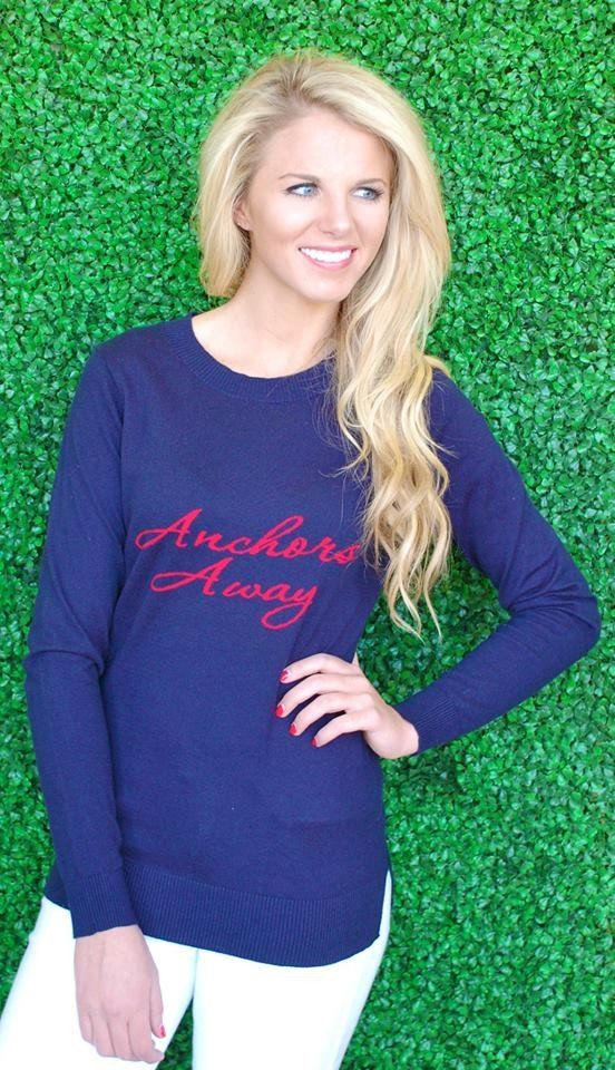 Navy Anchor Sweater #10sale #sale #sweaters