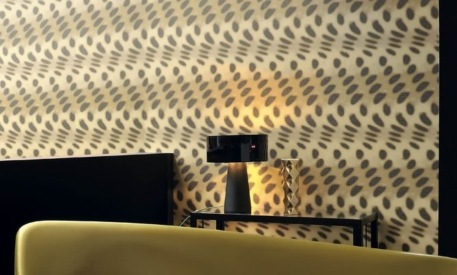 Elitis Visa Loft.  3D ripple effect wallpaper will alter your view of reality.