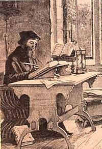 """10/30 John Wyclif. It is not enough realised that, well before Luther, Wycliffe also recognised the other major Reformation doctrine, that of justification by faith, though not in fully worked out form as Luther achieved. In Christ stilling the Storm he wrote: """"If a man believe in Christ, and make a point of his belief, then the promise that God hath made to come into the land of light shall be given by virtue of Christ, to all men that make this the chief matter."""""""