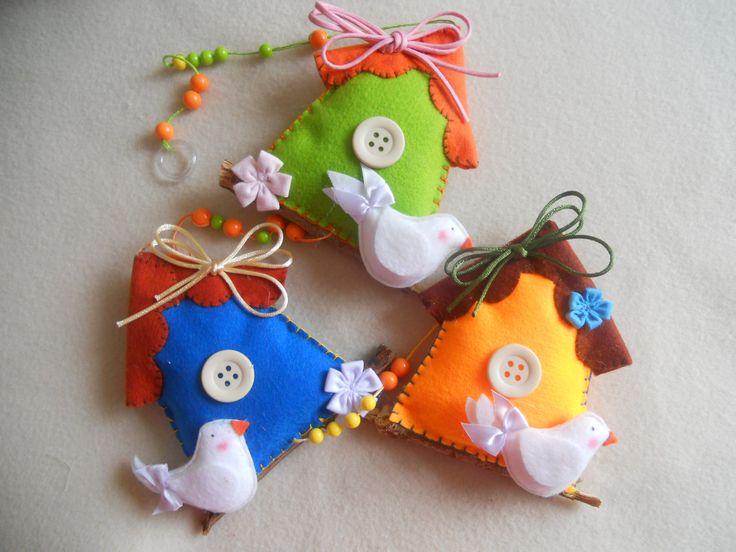 Casinha de passarinho, sugestão de presente para o dia das mães.