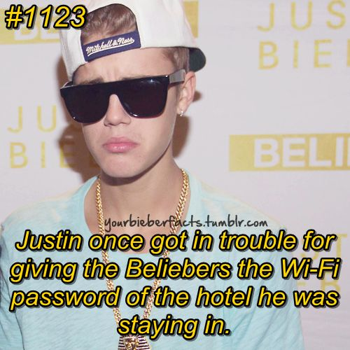 Justin Bieber Facts lol one more reason to love him