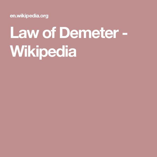 Law of Demeter - Wikipedia