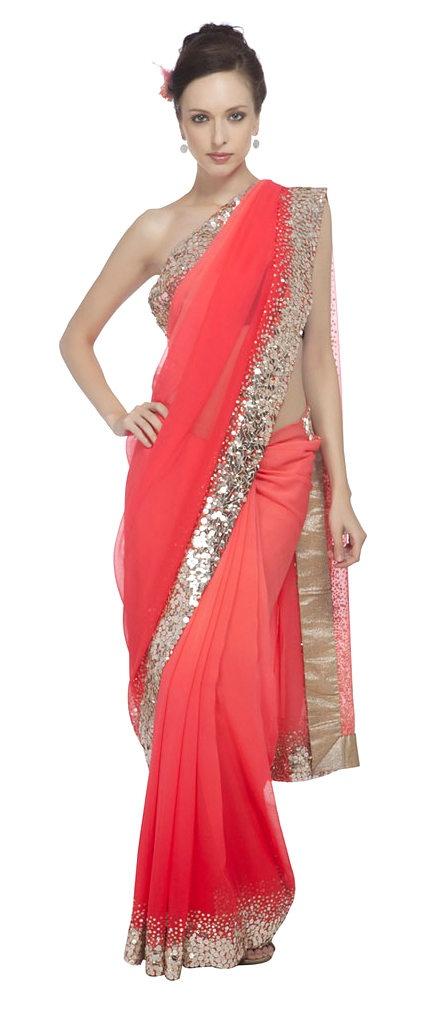 Ombre saree   http://www.feminiya.com/category/fashion/shopping-guide/