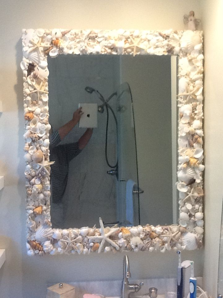 17 Images About Shell Creations On Pinterest Bathrooms Decor Sea Shells And Nautical Mirror