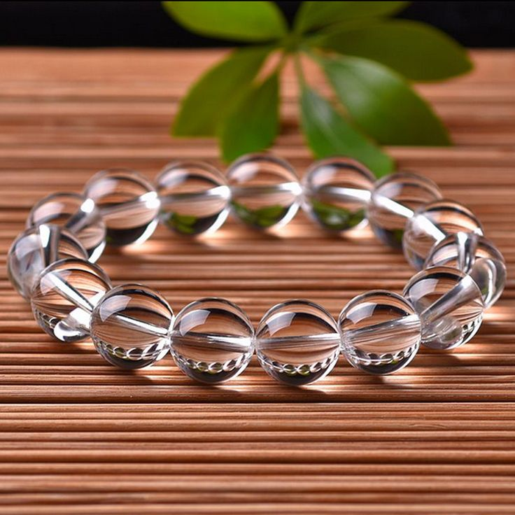 Nature Pure White Crystal Bracelets Round Beads Single Lap Hand Strings Bangles Fashion Men Women Jades Stone Jewelry #Affiliate