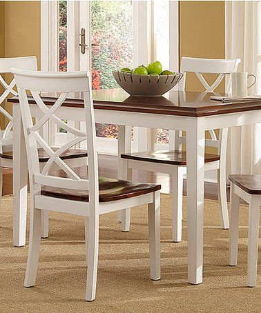 44+ Powell harrison 5 piece dining set cherry and white Trend
