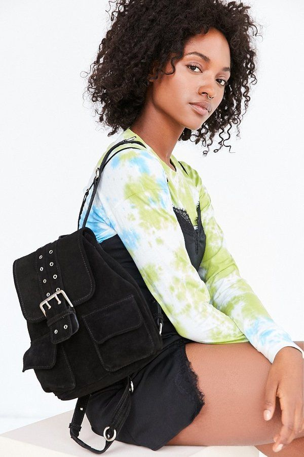 Nika Suede Grommet Backpack  ON SALE: Was $79.00 Reduced to: $39.99  49% OFF