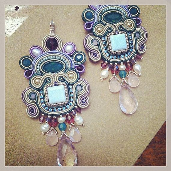 DIY Soutache tutorial orecchini Monet's by AdelsLaboratory on Etsy