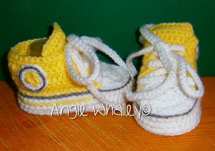 Yellow Converse for one of my friend's Grand daughter :)