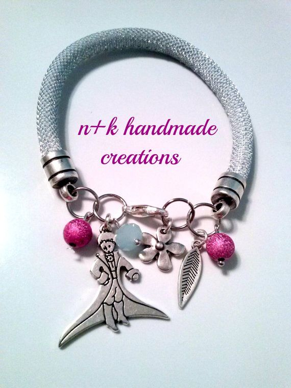 Handmade silver  bracelet little prince with by thenkcreations