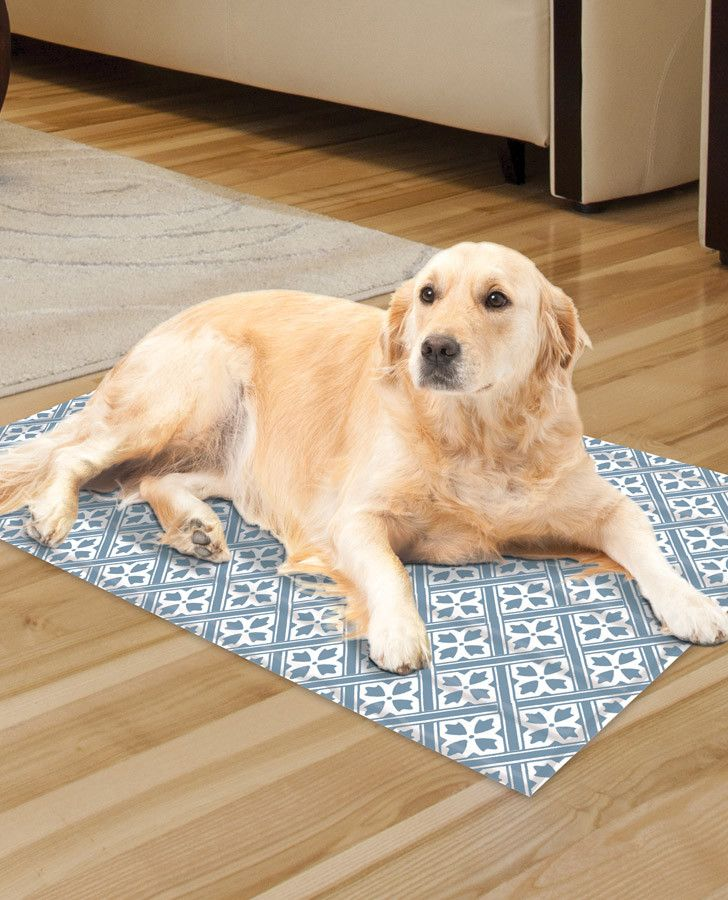 Reversible Dusty Blue Large Cooling Mat Lauraashleypet Pets Pet Carriers Pet Health Care