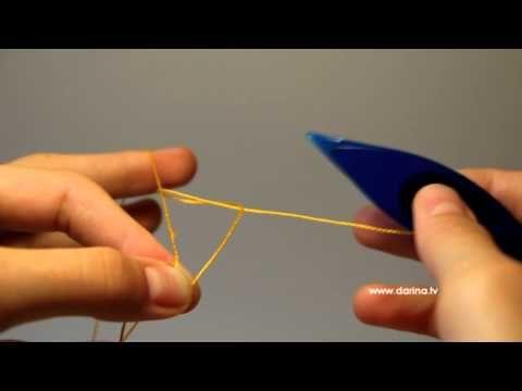 Как завязать прямой узел фриволите