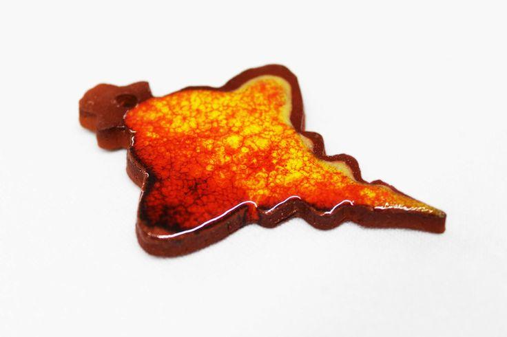 Daweihnachten: 5 Keramik -  Anhänger... von zeit-geister auf DaWanda.com