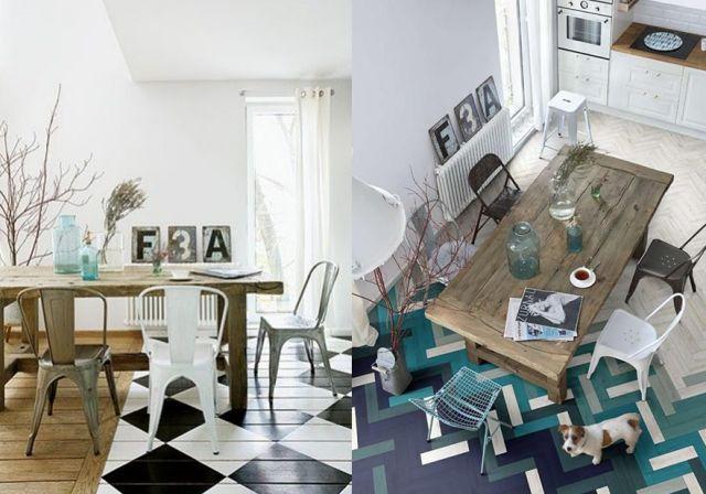 17 meilleures images propos de d coration futur maison for Peindre un parquet ancien en blanc