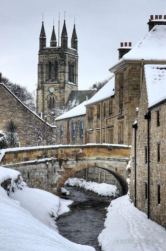 Snowy Helmsley, Yorkshire, UK