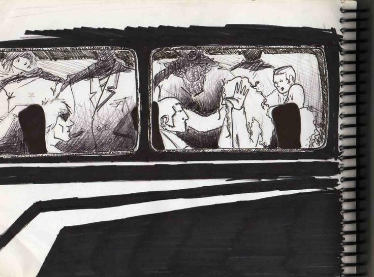 bus atestado con pasajera sentada encima tuyo…parte de una historia falsa.