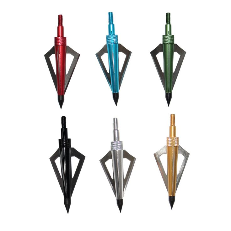 6pcs Colorful 125Grain Broadheads with 3-Fixed Blade Archery Hunting Arrowhead(China (Mainland))