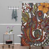 Found it at Wayfair - Valentina Ramos Woven Polyester Paradise Bird Shower Curtain