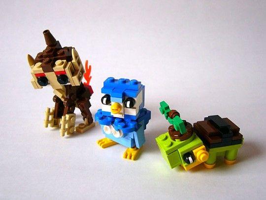 pokemon legos   Lego Pokemon pokémon pearl DS game starter pokémon