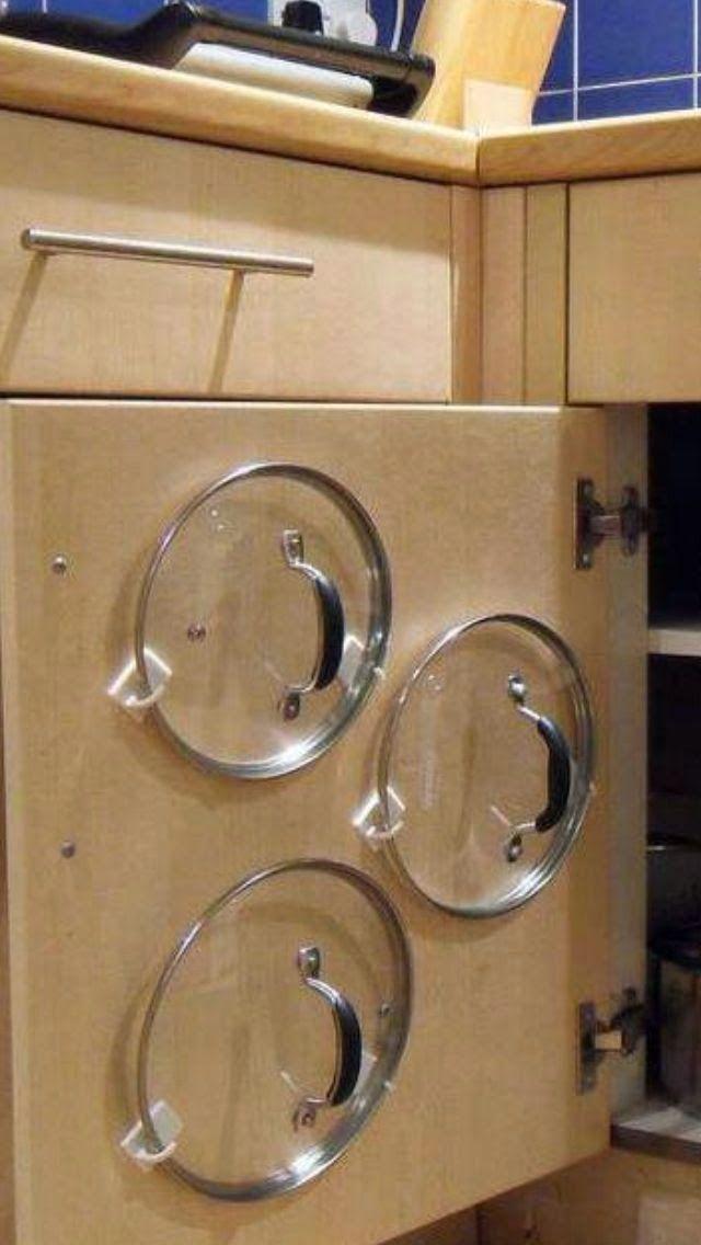Topfdeckel ganz einfach und clever unterbringen – Küchen Life Hack