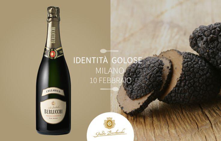 Food and wine pairing: Berlucchi Franciacorta Cellarius Pas Dose and black truffle. #BerlucchiMood