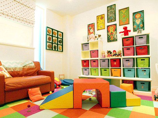 Climbing blocks (Childrens Factory CF321-049 Soft Tunnel Climber (Amazon)). (via Apartment Therapy, Doryn Wallach; Photo: Jill Slater)