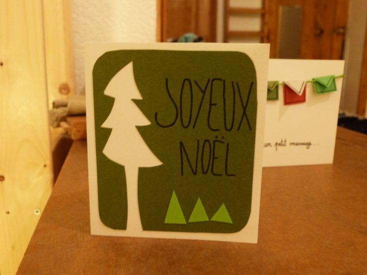 cartes de Noël fait maison :)