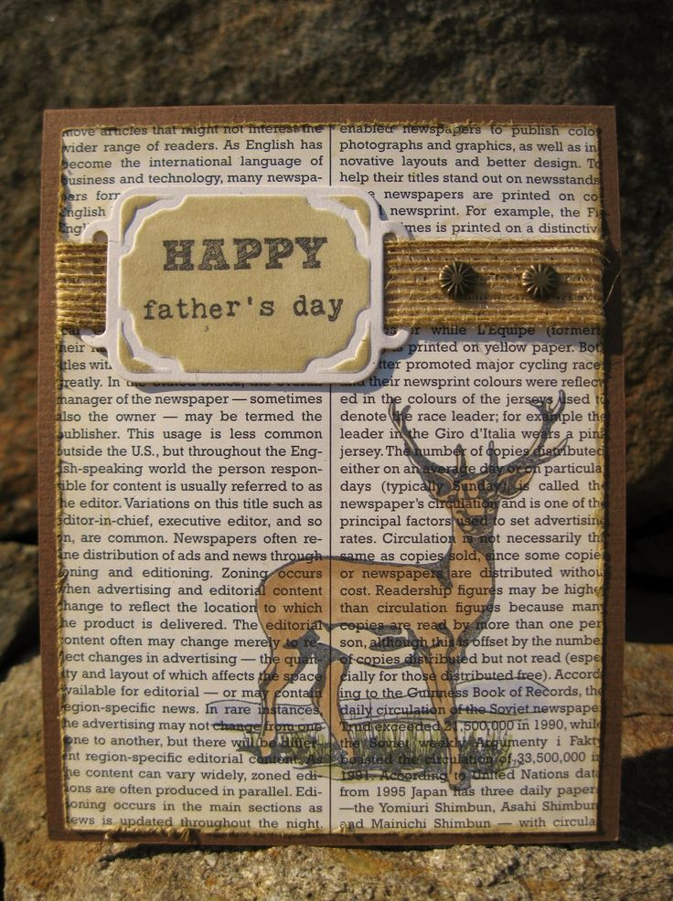 5/22/2012; Janice M. at 'Inkee Paws' blog; Deer Dad Father's Day card, but could be a masculine b-day, or thinking of you card