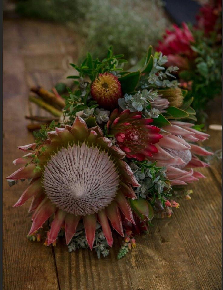 King Protea Wedding Bouquet at Peninsula Wild Flower