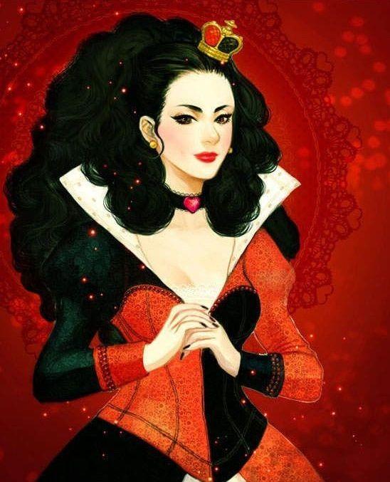 Vilão Disney (Rainha Vermelha - Rainha de Copas)