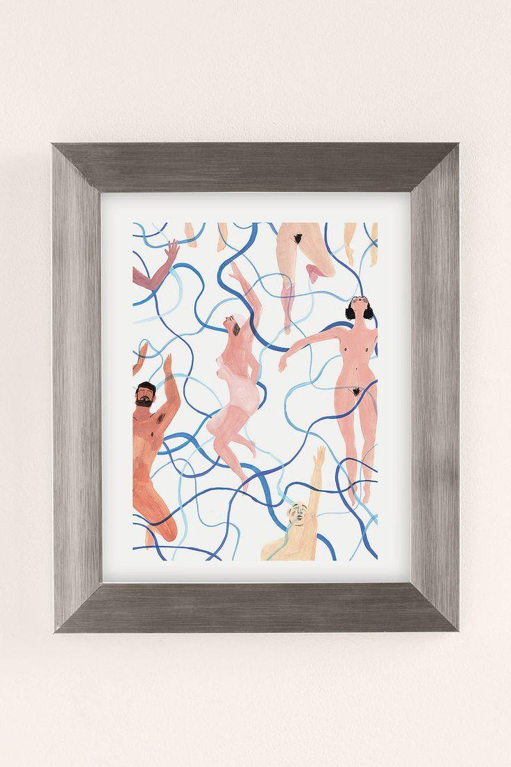 Slide View: 2: Rebecca Clarke Skinny Dippers Art Print