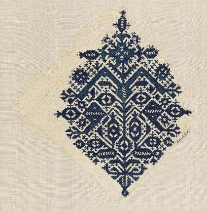 Embroidery fragment      Moroccan   Medium or Technique   Cotton and silk; embroidery