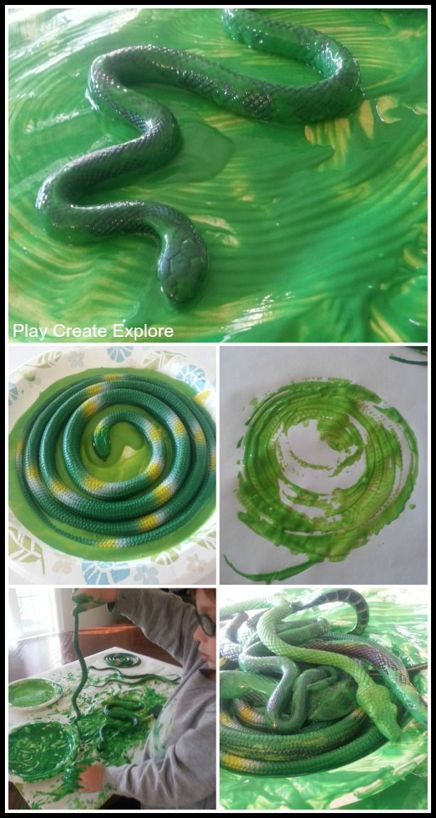 """Toy Snake Painting- FUN! Perfect to go with the book, """"Verdi""""."""