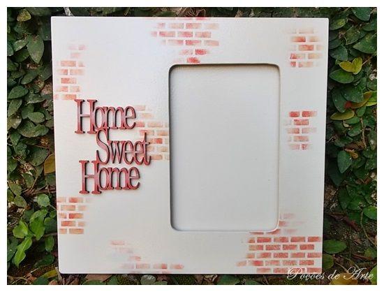 Lojinha Poções de Arte: Porta Retrato - Home Sweet Home.