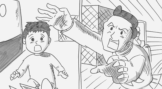 涙なしには見る事ができない、鉄拳によるパラパラ漫画『 約束 』 そんな優しいお父さんが…!