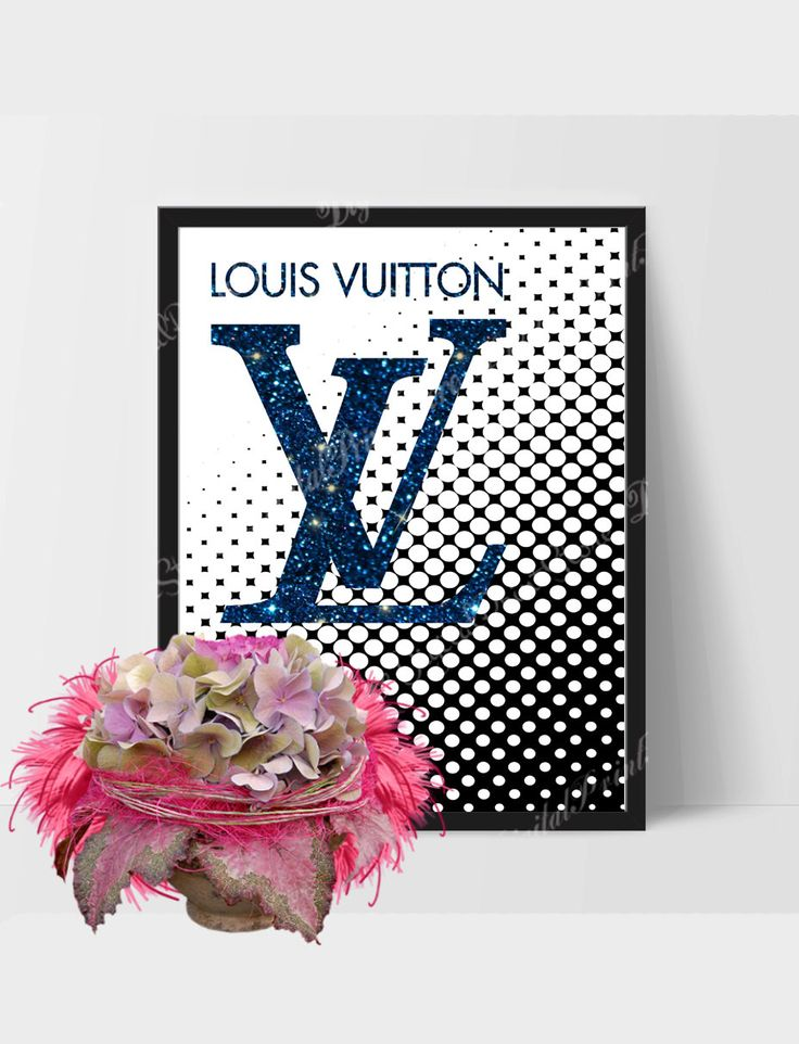 Louis Vuitton Logo 03, Vuitton Brand, Girly Print, Fashion Quote, Scandinavian Decor by DigitalPrintStore on #Etsy #louisvuitton #vuitton #gift