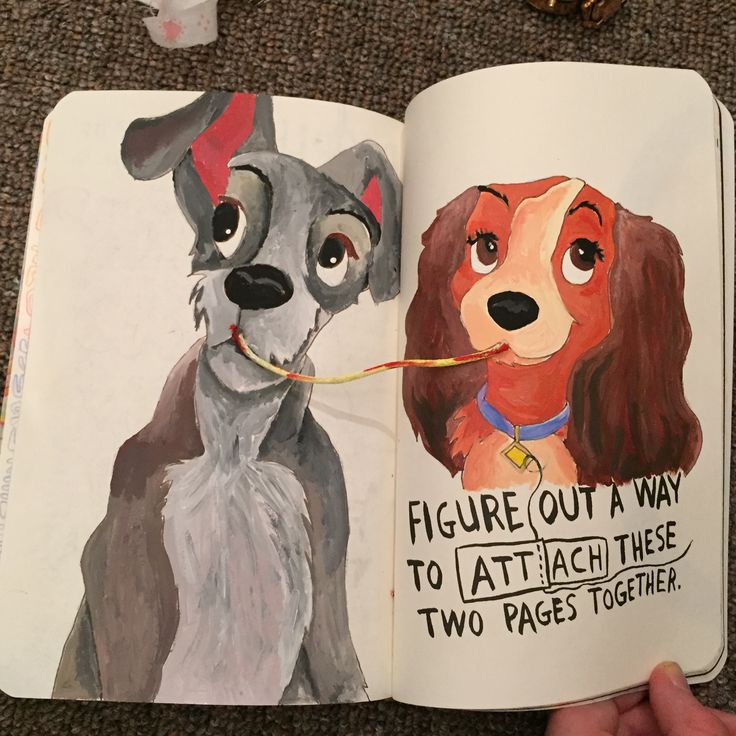 Lady and the tramp ❤️ Disney wreck this journal                                                                                                                                                                                 Plus