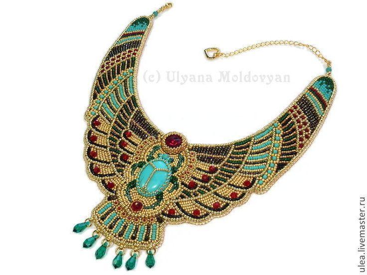 Купить Колье «Египетская богиня» - колье, праздничное колье, нарядное колье…