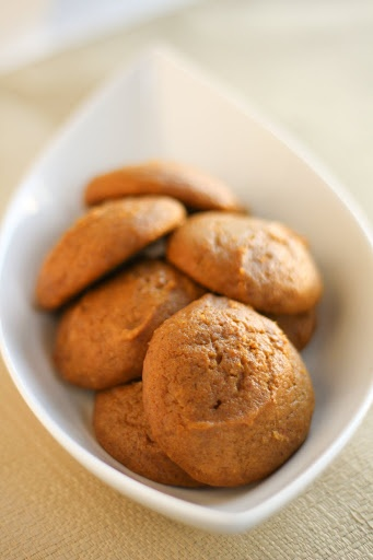 """Soft pumpkin cookies. """"A moist, cake-like cookie that brings together this wonderful vegetable inside a healthy (shh, don't tell) snack."""""""