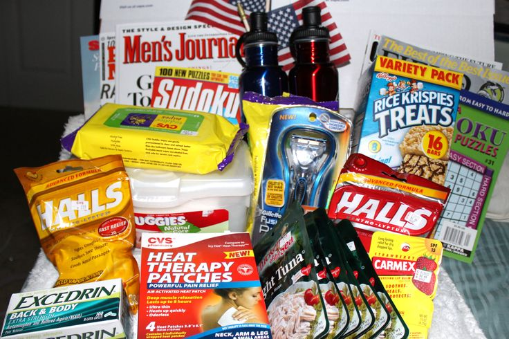 A Bunch Of Favorite Items For Care Packages For Deployed Troops That We Send At Homefront Hugs