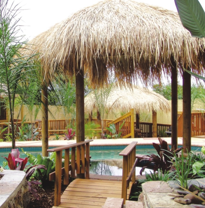Bali Huts for your backyard. From Matt's Homes & Outdoor Designs.
