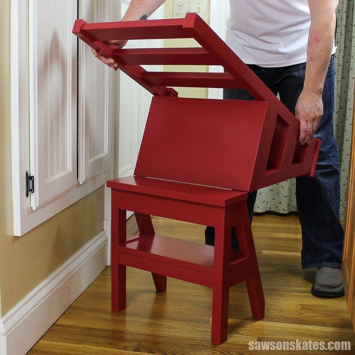 How To Make A Diy Ladder Chair Free Plans Saws On Skates Ladder Chair Diy Chair Diy Ladder